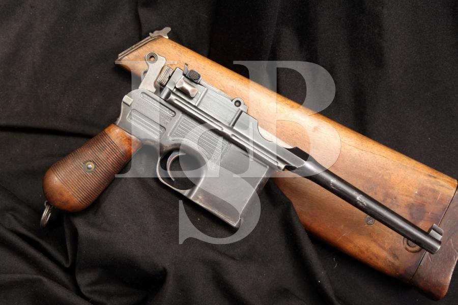 Mauser 1896 C96 Broomhandle Pre-War Commercial Semi Auto & Shoulder Stock, C&R