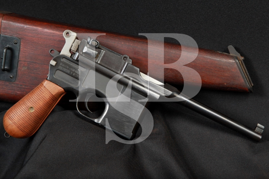 Mauser C96 Broomhandle Wartime Commercial Semi-Automatic Pistol & Shoulder Stock 1915-20 C&R