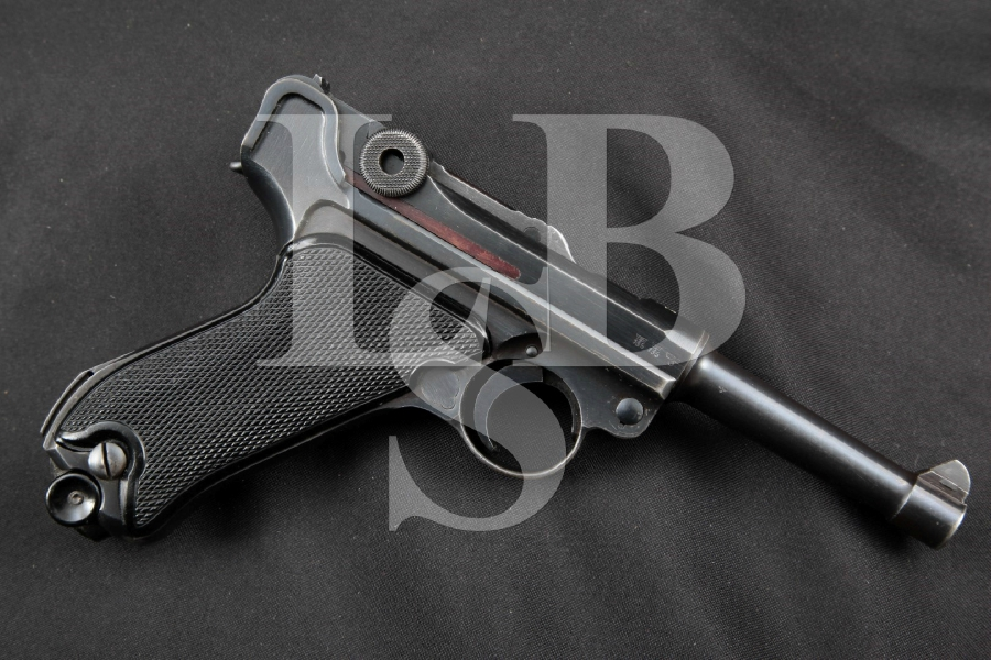 "Mauser Model 1934 byf Black Widow Luger, Matching, VERY SHARP 3 15/16"" WWII SA Semi-Automatic Pistol, MFD 1942, C&R SN666"