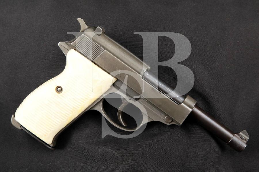 "Mauser Model P38, P-38 byf-44 2nd Alphabet Run, 2nd Variation, Two-Tone 5"" WWII DA Semi-Automatic Pistol, MFD 1944 C&R"