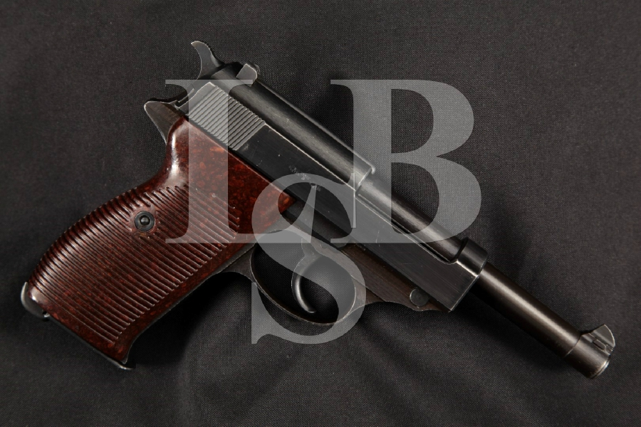 "Mauser Model P38 byf-44 1st Alpha Run 3rd Variation, Nazi Marked, Blue 5"" WWII DA/SA Semi-Automatic Pistol, MFD 1944 C&R"