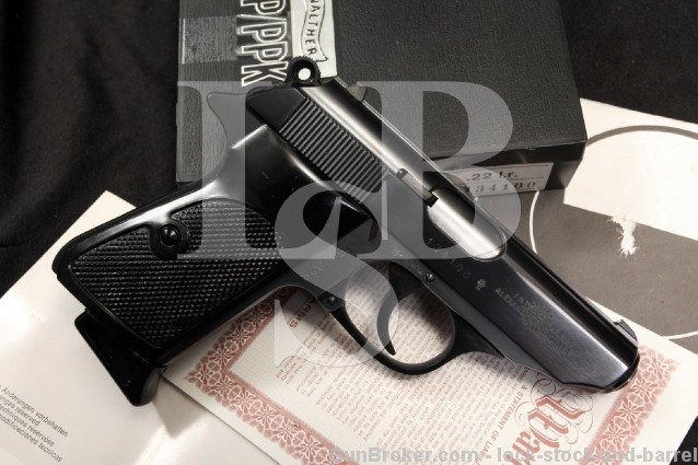 Mint West German Walther PPK/S .22 LR DA/SA 22 Semi-Automatic Pistol w/ Case & Manual - 1978