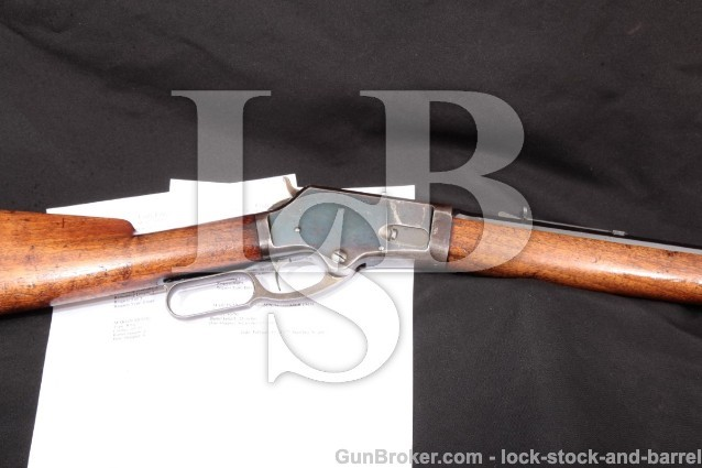 "NICE Marlin Firearms Model 1881,Octagon 45-70 Govt 28"" Blue Lever Action Rifle, MFD 1886 Antique"