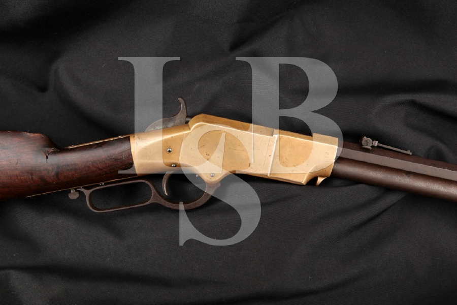 "ORIGINAL New Haven Arms Co. Model 1860 Henry, Matching Numbers, Visible Henry Bump, Blue 24"" Civil War Era Lever Action Rifle, MFD 1864 Antique"