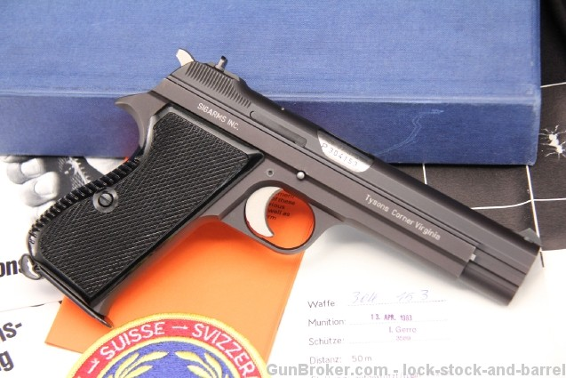 Mint Sigarms (Switzerland) Sig P210-2 Sig P210 9mm Semi Auto Pistol - In The Box