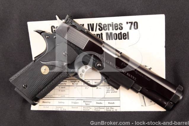 Pachmayr Signature Custom Colt Government 1911A1 1911-A1 Accurized, Bo-Mar, Semi-Automatic Pistol