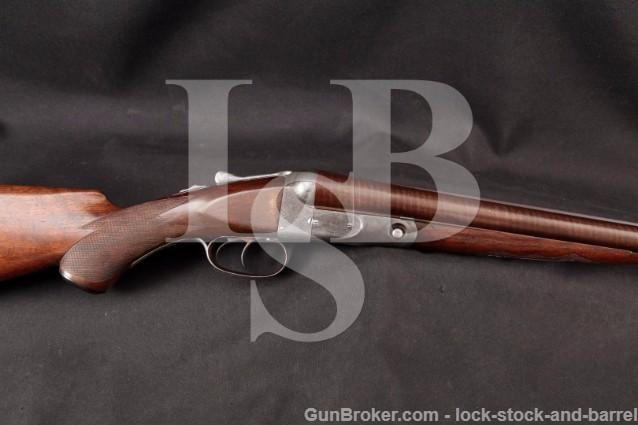 Parker Brothers GH Grade 2 Hammerless 30 12 Gauge SxS, Double Trigger Damascus Shotgun, 1897 Antique