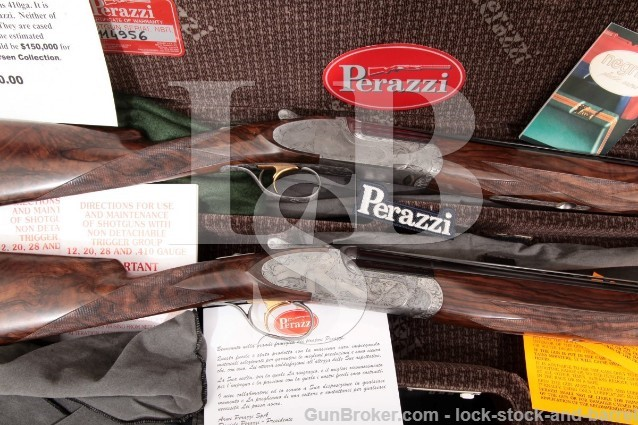 Perazzi Extra Super Grade, Galeazzi Engraved Set .410 & 28 Ga Over Under O/U Shotguns, MFD 1999