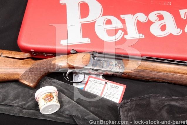 "Perazzi Ithaca MX8 MX-8 Blue& Case Color 23"" 12 Ga Vent Rib O/U Over-Under Shotgun & Case, MFD 1975"