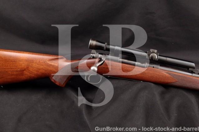 Pre-64 Winchester Model 70 7mm Mauser 7M/M Bolt Action Rifle & Lyman Alaskan Scope, 1938 C&R
