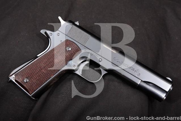 "Pre-War Colt Government Model .45 ACP Commercial Blue 5"" Semi-Automatic Pistol, 1911A1 MFD 1930 C&R"