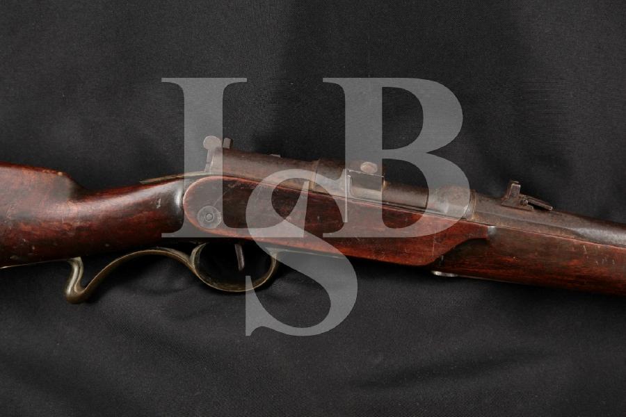 "Prussian Dreyse Model 1841 'Needle Gun' Saddle Ring Carbine, Blue 19"" Single Shot Bolt Action Rifle, MFD 1840s Antique"