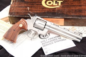 "6"" Brushed Stainless Steel Colt Python .357 Magnum Double Action Revolver - In The Box"