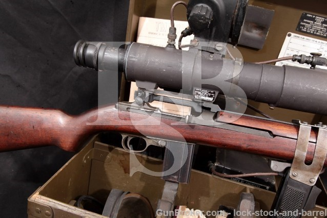 Quality Hardware M1 Carbine M3 Infrared Sniper Scope Military Semi Automatic Rifle, MFD 1944 C&R