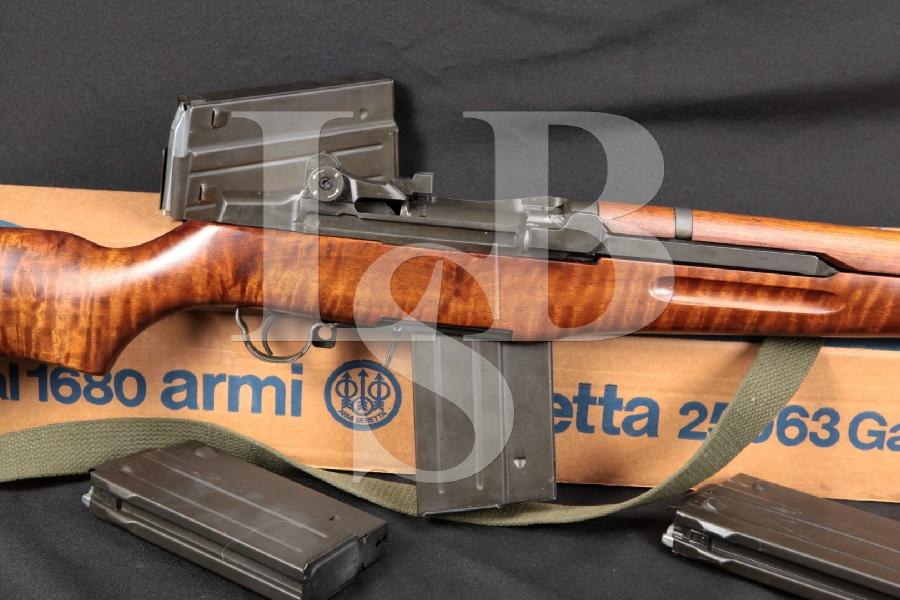 "RARE Beretta BM 62 (BM 59) Italian M1 Tanker Garand, Parkerized 17.5"" Imported Semi Automatic Rifle, & 4 Mags"