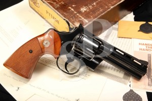 RARE Colt Python .357 Magnum Wyoming Fish & Game Double Action Revolver & Box, Number 62 of 70