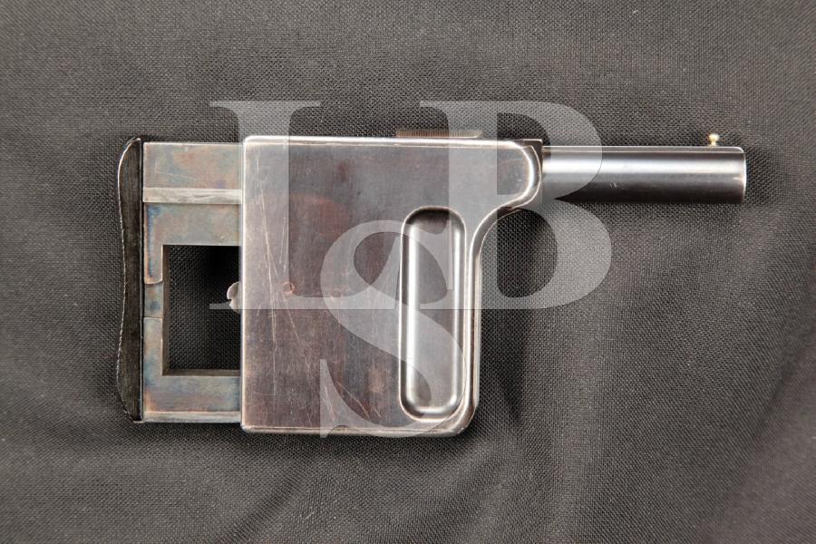 "RARE Manufrance Model Gaulois No. 1DAO Squeeze Cocker Palm Pistol, 2 1/8"" Matchning Pocket / Palm Pistol, MFD 1897-1910 C&R"