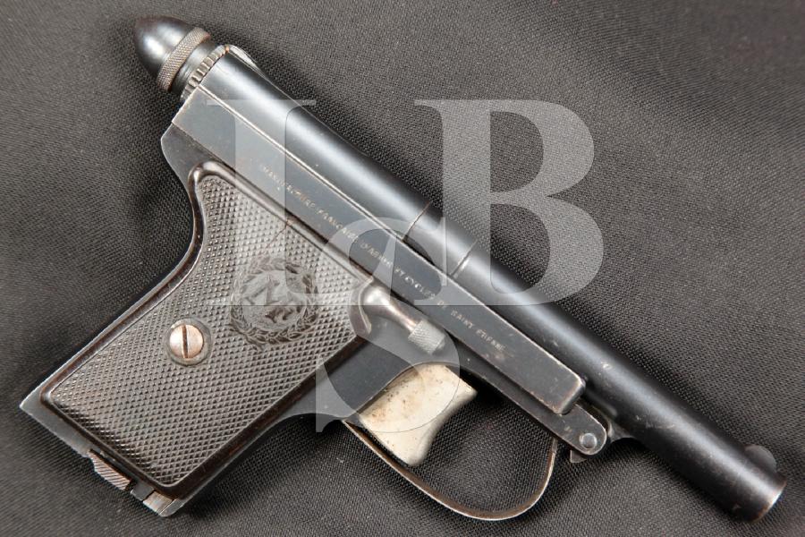 "RARE Manufrance Model Le Francais Type Policeman No. 5, Blue 3.5"" DAO Semi-Automatic Pistol, MFD 1922-1934 C&R"