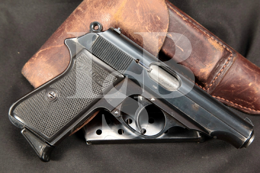 """RARE Pre-War PDM Marked Walther Model PP, Blue 3 7/8"""" Semi-Automatic Pistol, Holster & Mags MFD 1934 C&R"""