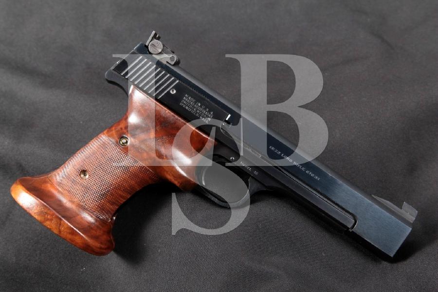 """RARE Smith & Wesson S&W Model 46, The .22 Rimfire Target, Blue 5 ½"""" SA Semi-Automatic Pistol, MFD 1964-65 C&R"""