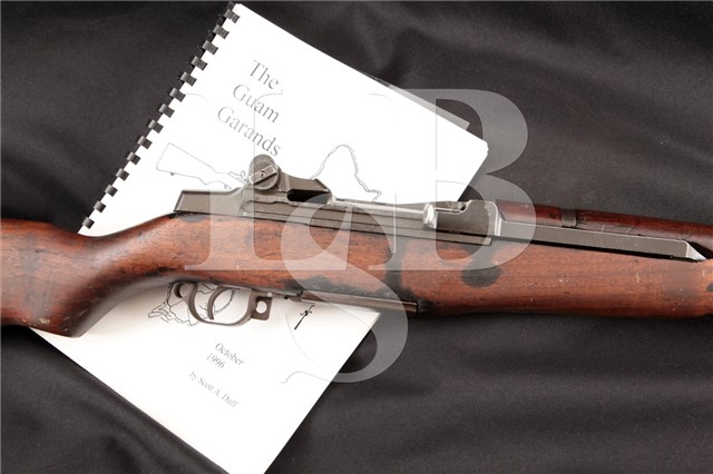 "RARE Springfield Armory M1 ""Guam Campaign"" Garand Authentic WWII Documented .30 Semi Automatic Rifle"