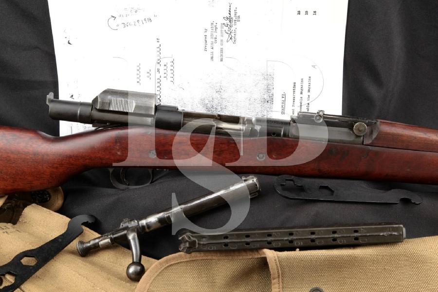 "RARE WWI Pedersen Device, Springfield Armory Model 1903 Mark I & Accessories, Parkerized 24"" Bolt Action & Semi-Auto Rifle & Magazine, 1920 C&R"