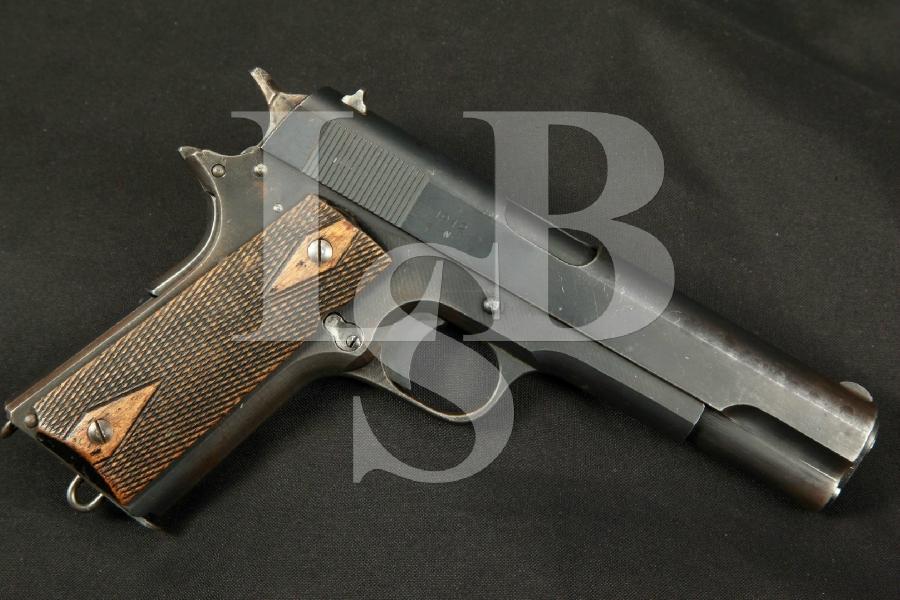 "Rare Nazi Occupation Norwegian Kongsberg Vapenfabrik Model 1914 'Kongsberg Colt', Matte 5"" Semi-Automatic Pistol, Matching 's, MFD 1942 C&R"