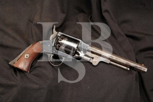 Rare U.S. Martially Marked .44 Caliber Percussion Rogers & Spencer Army Model Revolver, 1865 Antique