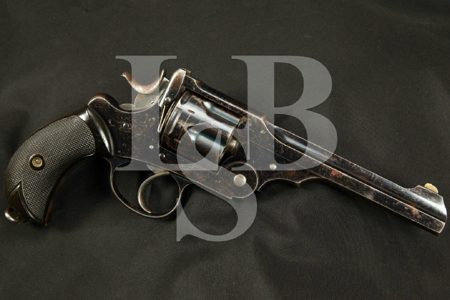 "Rare Webley & Scott W.G. Model of 1889, Blue 6"" Double Action Revolver, MFD 1890-1891 Antique .455 Webley"