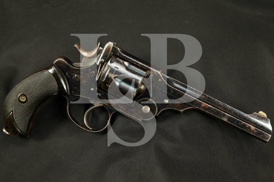 "Rare Webley & Scott W.G. Model of 1889, Blue 6"" Double Action Revolver, MFD 1890-1891 Antique"