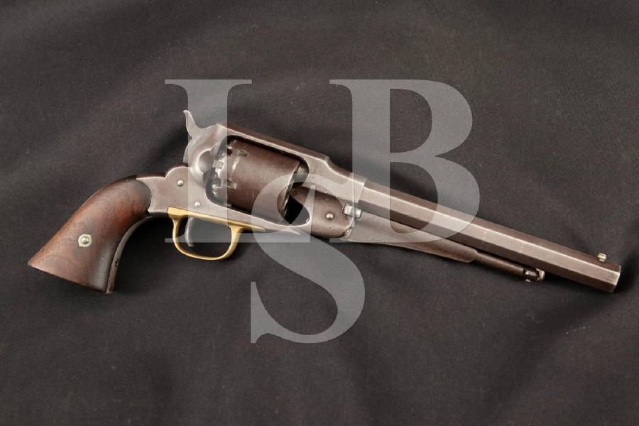 Remington Model 1861 Army, Civil War 2nd Illinois Cavalry Range, Blue 8 Single Action Percussion Revolver MFD 1962 Antique
