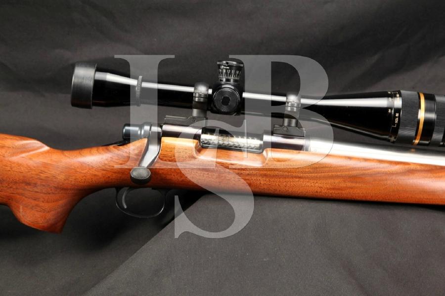 "Remington Model 40XBR 40 XBR Stainless & Blued 24"" Single Shot Bolt Action Rifle & 36X Leupold Scope"