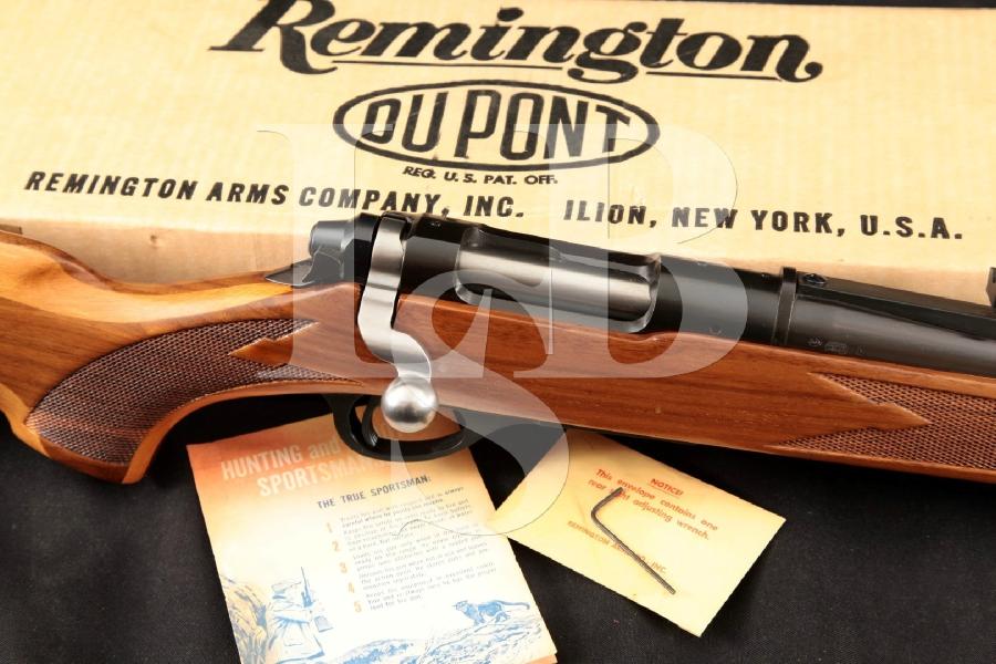 "Remington Model 600 Magnum High Power Carbine, Vent-Ribbed Blue 18 1/2"" Bolt Action Rifle, Box & More, MFD 1965 C&R"