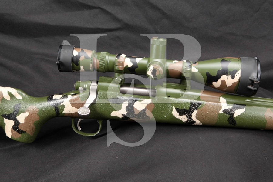"""Remington Model 700, Fluted Stainless Robar Polymax 26"""" Custom Bolt Action Rifle, MFD 1996 & Leupold Scope"""