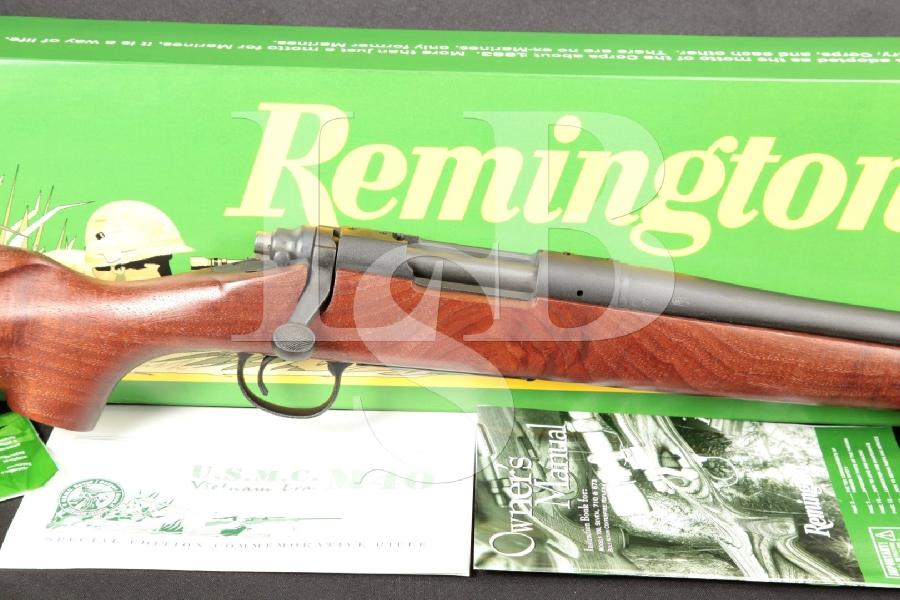 "Remington Model 700 SSA Vietnam Era M40 Commemorative Parkerized 24"" Bolt Action Rifle & Box MFD 2006"