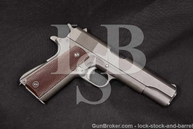 "Remington Rand WWII U.S. Model 1911-A1 1911A1 .45 ACP Parkerized 5"" Semi-Auto Pistol, 1944 C&R"