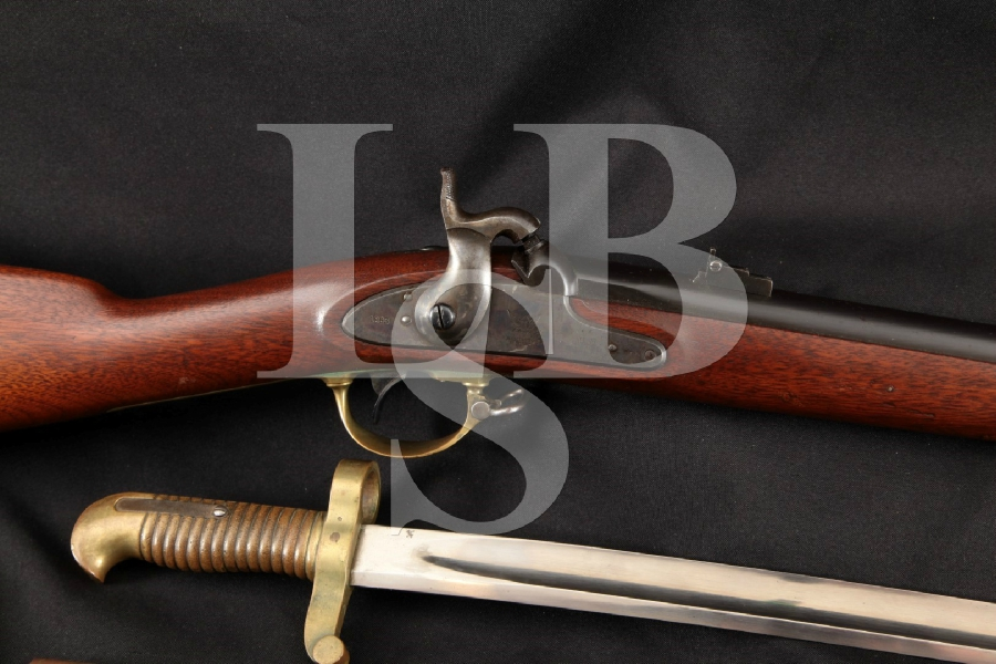 Remington U.S. 1862 Zouave, American Civil War Contract Model, Sharp Blue & Case Colored 33 Single Shot Rifle & Bayonet, MFD 1863 Antique