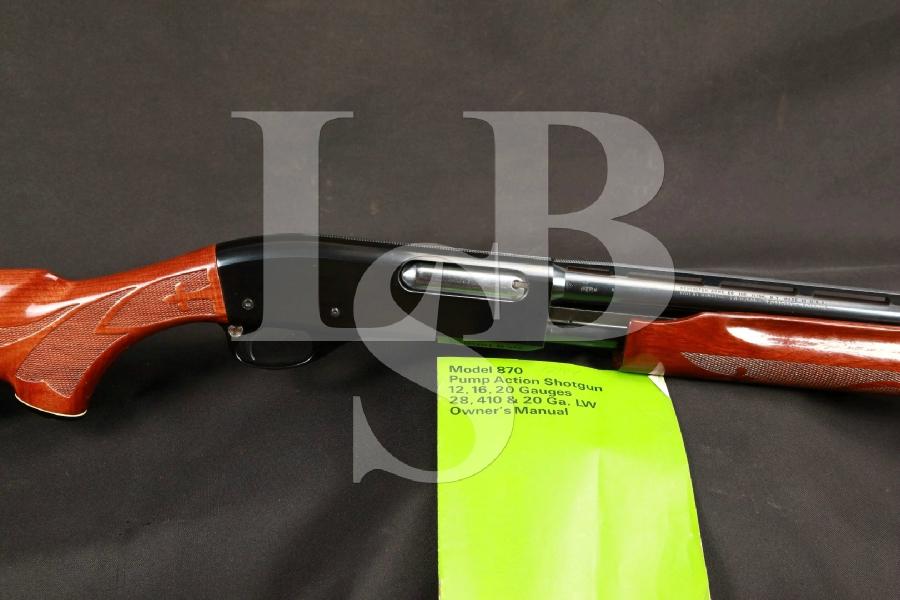 Remington Wingmaster 870LW (Light Weight) Modified Choke 25 Vent Rib Pump Action Shotgun, MFD 1979
