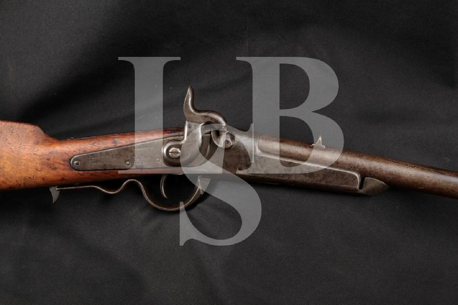 "Richardson & Overman Gallager Carbine, RARE Civil War, Blue & Case Colored 22 ¼"" Single Shot Hinged Barrel Rifle, MFD 1861-1865"