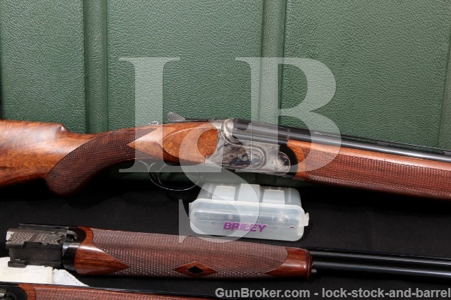 "Rizzini Aurum Classic Three Gauge 30"" & 28"" O/U Double Barrel Shotgun & Case, 2004 20, 28 & .410"