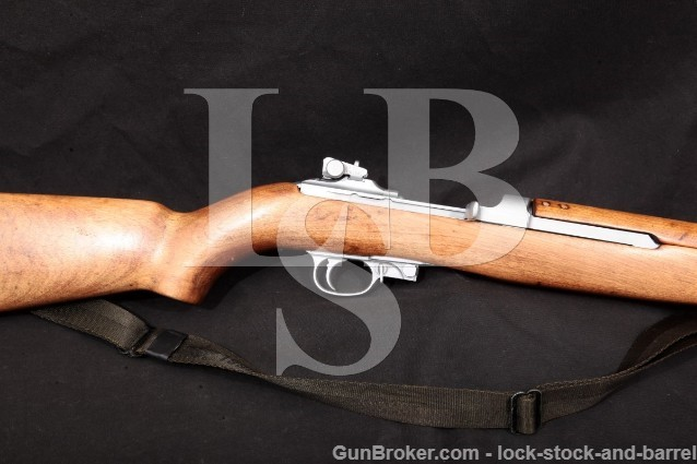 "Rock-Ola Rockola M1 Carbine Hard Chrome 18"" C&R Military Semi-Automatic Rifle, 1944 .30 Carbine"
