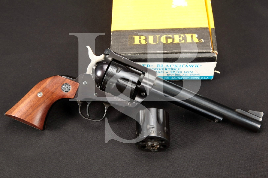 "Ruger 'Buckeye Special' New Model Blackhawk Convertible, Blue 6 ½"" Single Action Revolver, Mag. Cylinder & Box, 1988"