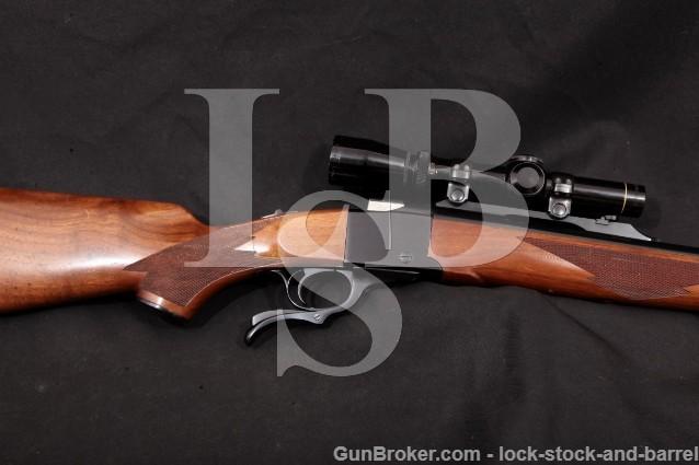 """Ruger Number No. 1 #1, Blue 24"""" Single-Shot Rifle Leupold VX-II 1-4x Scope, 1985 .375 H&H Magnum"""