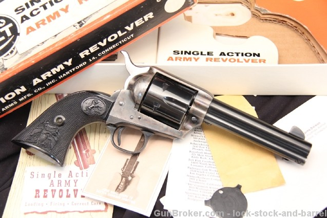 1873 Colt Peacemaker .45 2nd Generation Single Action Army S.A.A. Revolver - Mf'd 1968, In The Stagecoach Box
