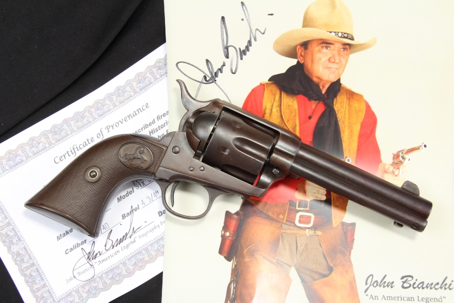 John Bianchi's Colt .44-40 WCF Frontier Six Shooter Revolver, Documented - C&R OK