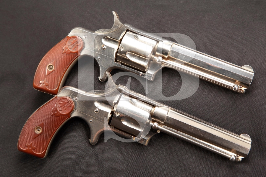 SERIAL NUMBER 3 AND 4 Remington Smoot No. 3 Consecutive Pair Single Action Revolvers, MFD 1875