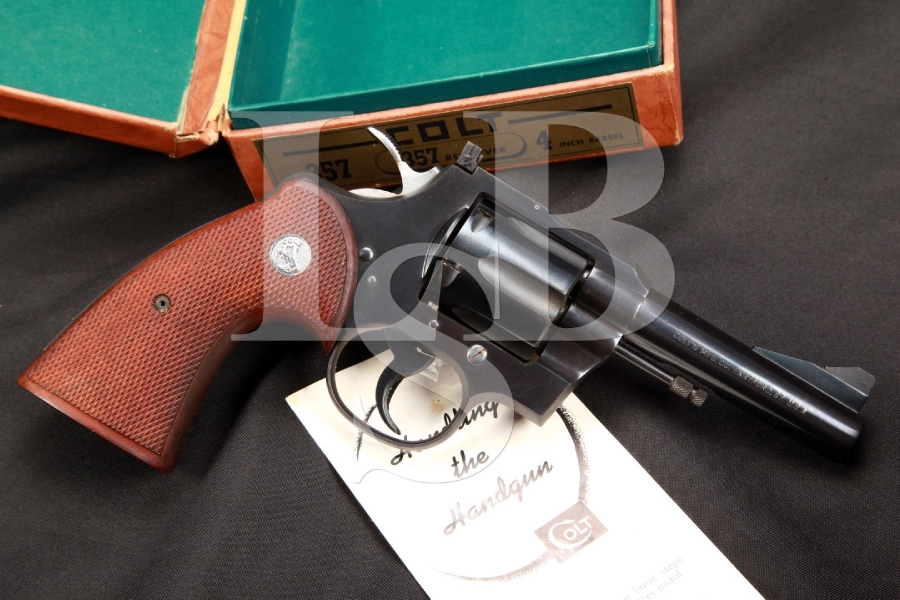 SERIAL NUMBER 4 - Colt Model .357 Magnum 4 Inch Blue Double Action Revolver & Box, 1954 C&R