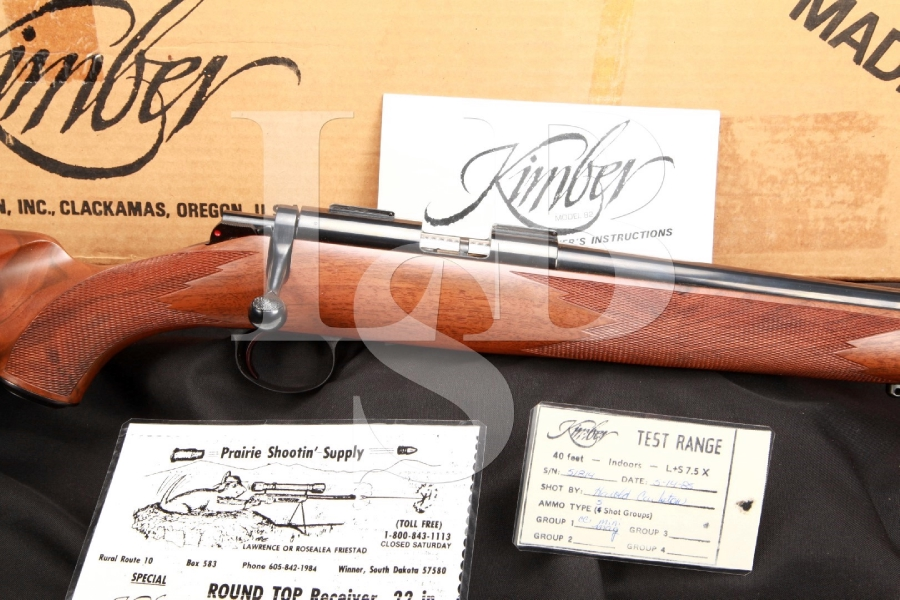 SHARP Kimber Model 82 Custom Classic .22 Long Rifle Bolt Action Competition Rifle MFD 1985, In the Box