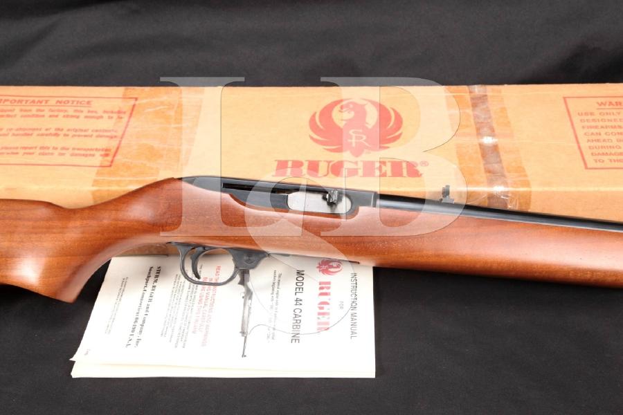 "SHARP Ruger Model 44 Carbine, Blue 18.5"" Semi Auto Rifle & Box, MFD 1979"