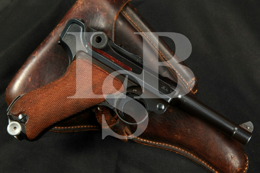 """SHARP WWII Mauser Model 1934 byf Luger, 3 15/16"""" Matching Semi-Automatic Pistol, MFD 1941 C&R - 9mm Para."""